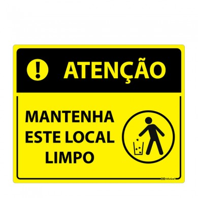 Placa Mantenha Este Local Limpo