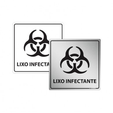 Placa de Lixo Infectante