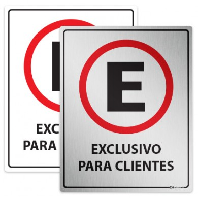 Placa Estacionamento Exclusivo para Clientes