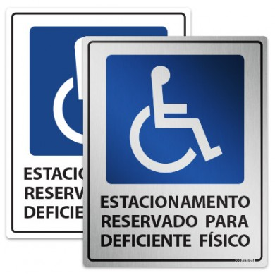 Placa de Estacionamento para Deficientes