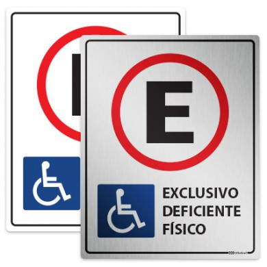 Placa Estacionamento Exclusivo para Deficientes
