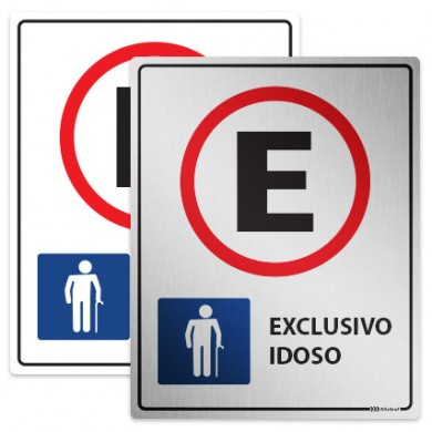 Placa Estacionamento Exclusivo para Idoso