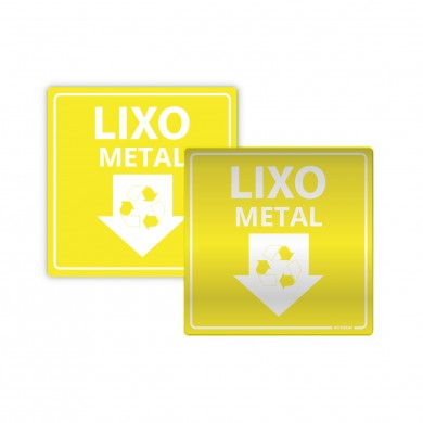 Placa de Lixo para Descarte de Metal