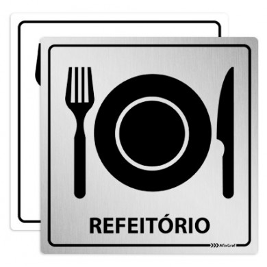 Placa Pictograma Refeitório