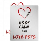 Placa Decorativa Love Pets