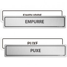 Kit Placa Puxe Empurre