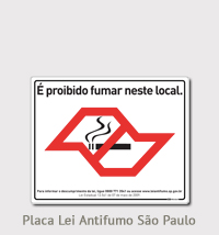Placa Lei antifumo SP